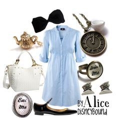 disney movies, disney outfits, disney inspired outfits, alice in wonderland, the dress, disney bound, disneybound, disney characters, disney fashion