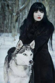 Witch and wolf (this is a Husky) but nice thought and photo.