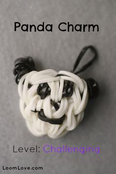 How to Make a Rainbow Loom Panda Charm #rainbowloom
