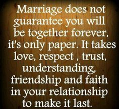 The one thing about this quote that most marriages don't have is FAITH