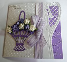 Happy Birthday - Scrapbook.com card idea, spellbind, craft, happy birthdays, anja, mariann die, cardmak, happi birthday, mariann design