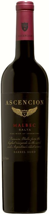 """Ascencion Malbec 2010 - Zagat Wine  """"The grapes are carefully hand-picked, and the juice is fermented at low temperatures to retain maximum aroma and fruit flavor. 25% is aged in fine French oak barrels for 9 months, imparting lovely notes of spices and subtle vanilla.    A full-on Malbec to get the BBQ party started, this wine handles itself with juicy fruit, smoke and spice aplomb. Rich and tight on the palate. It's your sure-fire match with steak."""""""