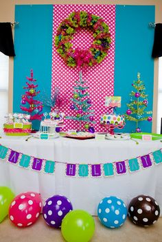 Beautiful Bright colors for kids Christmas party  #holidayentertaining