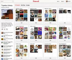 Blog post by David Lee King describing how the Topeka Library is using Pinterest.