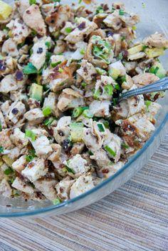 Grilled Chicken, Bacon & Avocado Salad