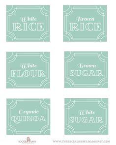 Printable Pantry Organizing Labels