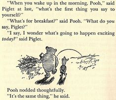 What's for breakfast? by A.A. Milne via morethansayings #Pooh #A_A_Milne #Breakfast