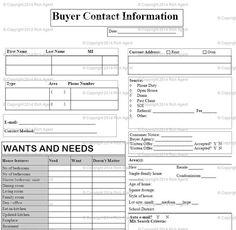 Buyer Client Form -