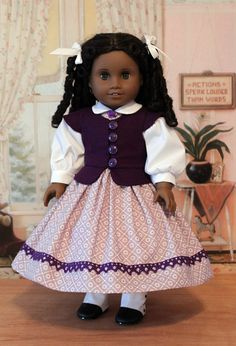 1850's Dress for Cecille or Marie Grace by BabiesArtUs on Etsy, $65.00