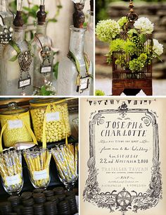 Vintage Wedding place setting ideas