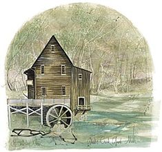 "P Buckley Moss ""Glade Creek Grist Mill"""