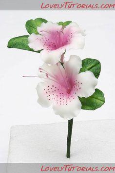 azalea flower making tutorial
