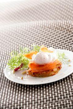 crique de pomme de terre au saumon fumé