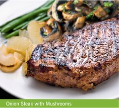 Onion Steak with Mushroom