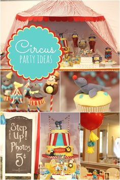 circus themed boy's first birthday party ideas