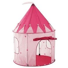 Girl's Playhouse Pink Princess Castle Play Tent for Kids - Indoor / Outdoor - Pockos --- http://www.amazon.com/Girls-Playhouse-Pink-Princess-Castle/dp/B002SQW38Q/?tag=mywelost0e-20