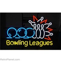 Bowling Leagues Vintage Style Neon Sign  http://www.retroplanet.com/PROD/32573