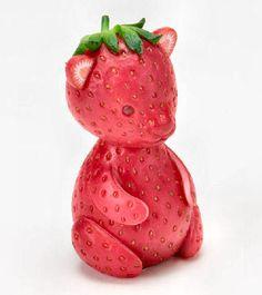 strawberry bear friends, beer, toy, bears, amaz fruit, fruit animals, strawberri, fruit art, fields