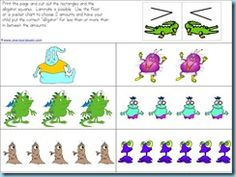 Greater than and less than, using the alligator mouth as a visual aid monster, math worksheets, preschool printables, kinder math, kindergarten idea, alligators, educ, mouths, angri bird