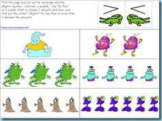 monster, math worksheets, preschool printables, kinder math, kindergarten idea, alligators, educ, mouths, angri bird