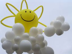 sunshine and clouds balloons