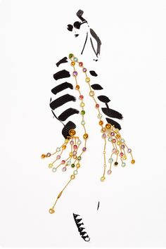 Bohemian babe in pieces by Marco Bicego. marco bicego, bohemian babe, fashion illustrations