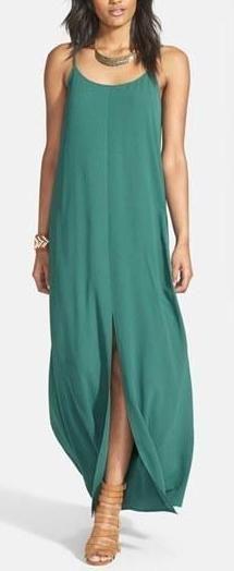 Solid summer dresses.