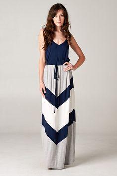 Chevron Audrey Dress