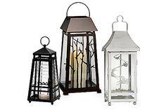 Small Weathered Zinc Lantern, Change-O Lantern, Changing Seasons Lanterns #PartyLiteCanada