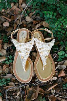 Kate Spade bridal sandals // photo by Marianne Wilson