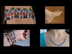 How to make seed bead daisy chain bracelets/anklets/necklace