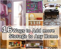 Ways to Add More Storage To Any Home decor, awesom idea, help household, household organization, storag idea, diy project, add storag, homes, storage ideas