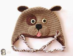 Gorro Perrito a Crochet, Patrón Gratis