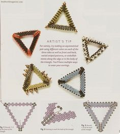 scheme making triangles of beads