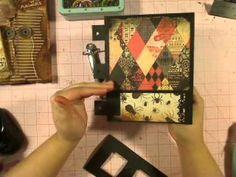 Paper Hinge Ring Binding Gypsy File - YouTube
