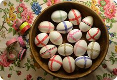 more washi tape eggs!