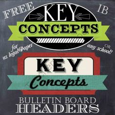Great for highlighting your key concepts or other study area in your classroom!