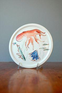 """Arabia Finland """"Aquarium"""" plate"""