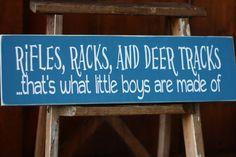 Rustic woodland - Rifles Racks and Deer Tracks  Boy Nursery by SimpleBlessingsNLife, $30.00
