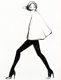 Garance Dore with a simple yet powerful fashion illustration x