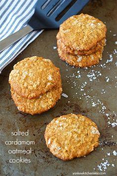Salted cardamom oatmeal cookies | yankeekitchenninja.com