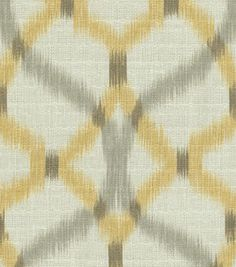 Home Decor Print Fabric- Waverly Izmir Ikat/Pumice $23.90
