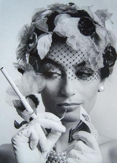 "Williams Klein, 1963 photograph, ""Anouk Amiee"", Paris, Vogue"
