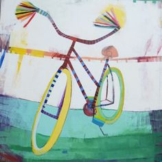 """Wendeline S. Matson     Red and Blue Roadmaster #5 , 2011  Acrylic on Canvas Acrylic on Canvas  48"""" x 48"""""""