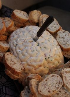 Looking for a great snack for your Halloween party? Then grab a brain mold and try your hand at making some tasty cream cheese brain dip, or a black bean graveyard dip. Jo and Sue have the recipes for both, and they look totally terrific and tasty.
