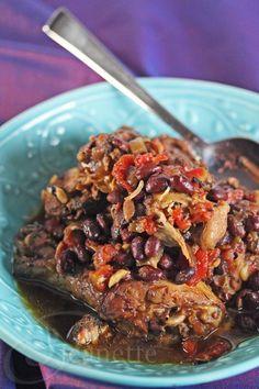 Crockpot Jamaican Chicken Stew Dinner © Jeanette's Healthy Living