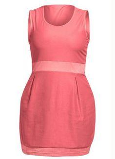 Vestido Curto Plus Size  Rosa