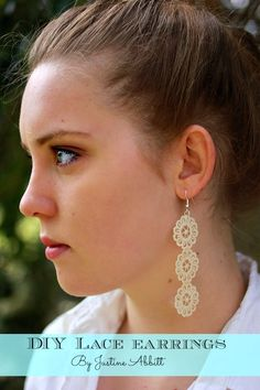 DIY earrings made with lace - so easy and budget friendly!