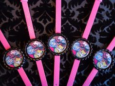 Set of 5 Hot Pink Monster High Bracelets (Group 5). $10.00, via Etsy.