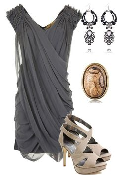 fashion, accessori, heel, outfit, the dress, rock, date nights, dress shoes, grey dresses